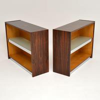 Pair of Rosewood & Chrome Bookcase / Cabinets by Merrow Associates (10 of 12)