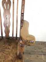 Antique Beech & Elm Windsor Armchair (4 of 12)