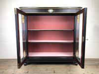 Victorian Ebonised Inlaid Side Cabinet with Brass Mounts (14 of 15)