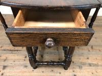 Antique Oak Drop Leaf Dining Table (5 of 13)