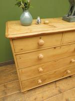 Antique Victorian Stripped Pine Chest of Drawers, Rustic Farmhouse Cottage Chest (15 of 16)