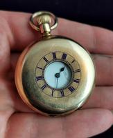 Antique Half Hunter Pocket Watch, Gold Plated, Waltham (10 of 11)