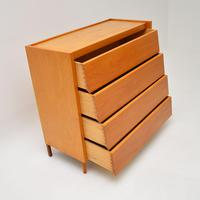 1950's Vintage Satin Birch Chest of Drawers (5 of 12)