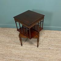 Sheraton Design Edwardian Mahogany Antique Revolving Bookcase (3 of 6)