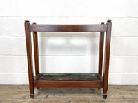 Antique Mahogany Three Section Stick Stand (6 of 8)