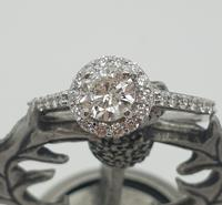 18ct WG Diamond Solitaire Halo Ring (6 of 8)