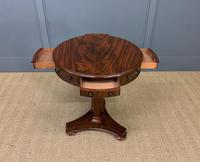 William IV Flame Mahogany Drum Table (4 of 9)