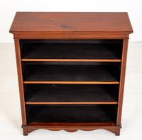 Victorian Mahogany Inlaid Open Bookcase (8 of 8)
