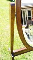 1930's Art Deco Oak  Cheval Mirror (8 of 18)