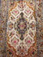 Antique Kashmir Silk Carpet (6 of 8)
