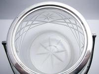 Hallmarked 1927 Solid Sterling Silver Mounted & Cut Glass Biscuit Barrel Cookie Jar Box Container (4 of 9)