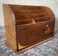 Edwardian Inlaid Mahogany Letter Rack / Correspondence Box (8 of 9)