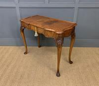 Serpentine Fronted Queen Anne Style Burr Walnut Side Table (4 of 16)