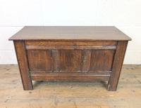Small Antique Oak Panelled Coffer (2 of 10)