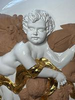 Beautiful Hollywood Regency Style Oversized Porcelain & Terracotta Cherub Floor Vase (7 of 52)