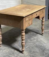 French Bleached Oak Writing Desk (7 of 21)