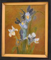 Still Life Oil Painting of Irises (2 of 6)