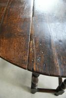 17th Century Oak Drop Leaf Table (4 of 12)