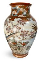 Meiji Period Kutani Vase Decorated with Geese (4 of 6)