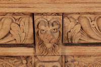 Carved Raw Oak Glazed Bookcase (17 of 21)