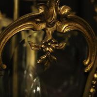 French 19th Century Gilt Bronze Antique Hall Lantern (7 of 10)