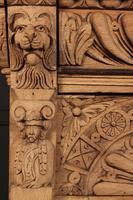 Carved Raw Oak Glazed Bookcase (18 of 21)