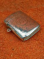 Antique Sterling Silver Hallmarked Vesta Case 1910, Samuel M Levi (5 of 9)