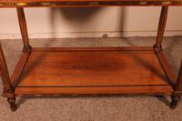 Louis XVI Console in Cherrywood, 18th Century Stamped LM Pluvinet (4 of 15)