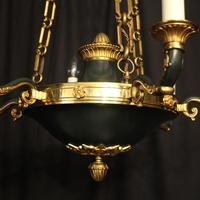 French Empire 6 Light Bronze Antique Chandelier (10 of 10)