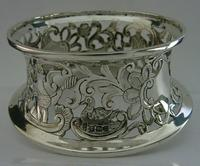 Rare English Solid Sterling Silver Potato Dish Ring London 1917 Antique (5 of 12)