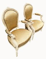 Pair of Painted French Fauteuils (2 of 5)