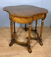 Late Victorian Burr Walnut Card Table (6 of 9)