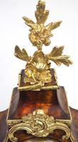 Antique French Shell & Ormolu 8-Day Striking Mantel Clock Rococo Boulle Case Segment Dial Signed (2 of 13)