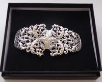 1895 Julius Louis Rosenthal London Hallmarked Solid Silver Nurses Belt Buckle (7 of 7)