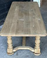 French Bleached Oak Refectory Farmhouse Dining Table (23 of 26)