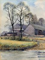 Caught One by R.Coleman 1971 A Trout Fishing Riverscape Watercolour Painting (6 of 13)