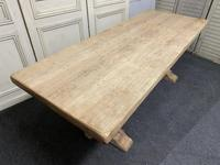 French Bleached Oak Farmhouse Dining Table (5 of 15)