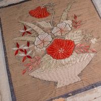 Pair of Antique Decorative Panels, Chinese, Embroidered Silk, Victorian c.1880 (5 of 9)