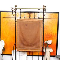 Cast Iron Bed Frame Brass Victorian 19th Century (5 of 9)