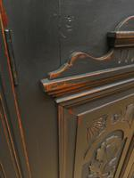 Art Nouveau Black Painted Sideboard, Gothic shabby chic (14 of 16)