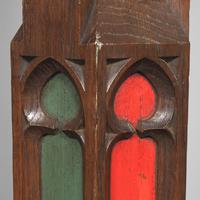 Pair of Gothic Revival Oak Standard Lamps (8 of 12)