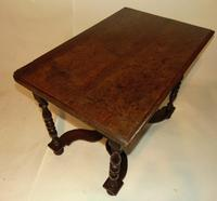 William & Mary Oak Side Table (5 of 9)