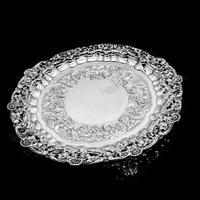 Magnificent Georgian Sterling Silver Tray / Salver with Military Lieutenant Interest - James Fray 1833 (3 of 23)