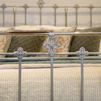 Antique Bed with Nickel Plating (4 of 9)