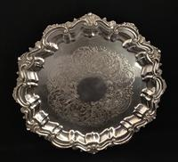 Mid Victorian Silver Plated Salver