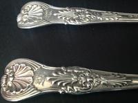 Pair of Paul Storr Antique Georgian Silver Coburg Tablespoons (5 of 8)