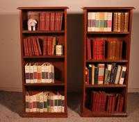 Pair of Open Bookcase - 19th Century in Mahogany