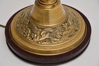 Antique Brass &  Mahogany  Floor  Lamp (3 of 9)
