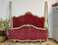 Antique French Demi Corbeille Chesterfield Style Double Bed Frame (8 of 13)