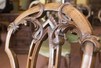4 Very Pretty Walnut Dining Chairs (3 of 4)
